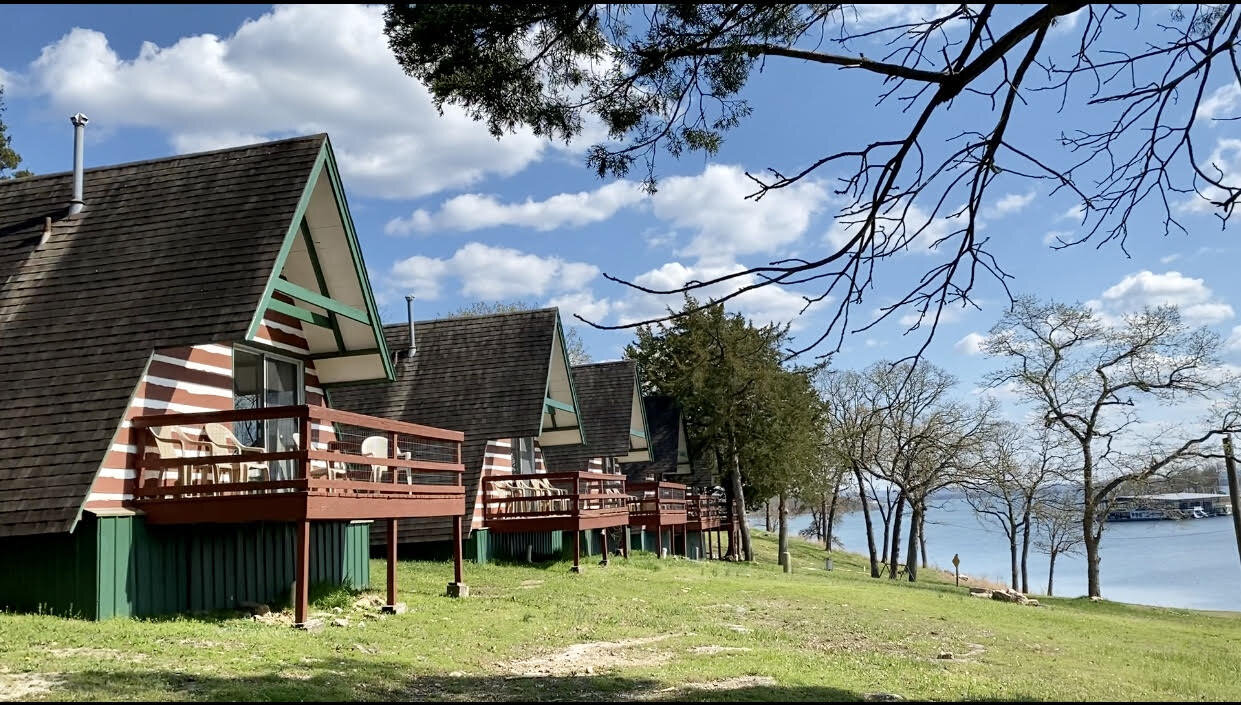 Cabins overlooking Table Rock Lake